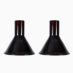 Pendant Lamps by Michael Bang for Holmgaard, 1970s, Set of 2