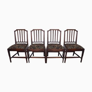 Antique Georgian Mahogany Dining Chairs, Set of 4