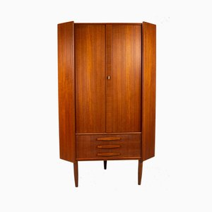 Vintage Danish Teak Corner Cabinet from Omann Jun, 1960s