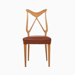 Oak and Leather Dining Chair, 1970s