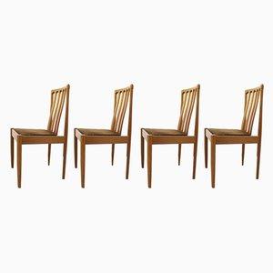 Esszimmerstühle aus Teak von Meredew, 1970er, 4er Set