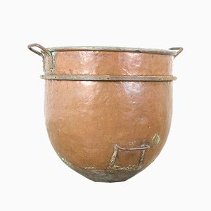 Large Antique Copper Caramel Pot