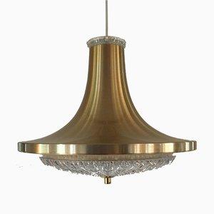 Lámpara colgante No. 31518 danesa Mid-Century de cristal de Vitrika, años 60