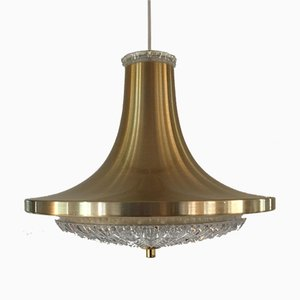 Lampe à Suspension N°31518 Mid-Century en Cristal de Vitrika, Danemark, années 60