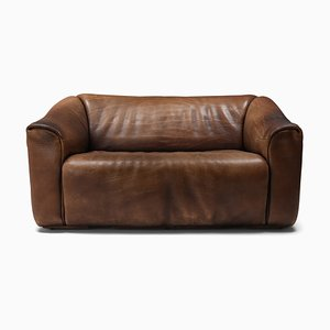 Brown Leather Model DS 47 Sofa from de Sede, 1970s