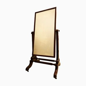 Antique English Cheval Dressing Mirror