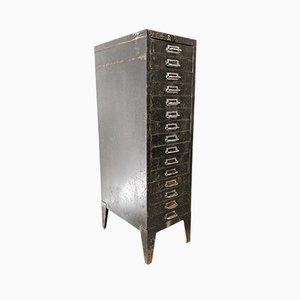 Schedario vintage in metallo di Bisley, anni '40
