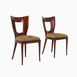 Chaise de Salle à Manger en Acajou par Osvaldo Borsani, 1950s
