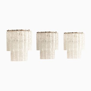 Mid-Century Italian Glass Sconces, Set of 3