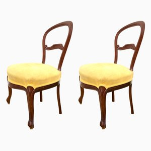 Antique Mahogany Chairs, Set of 2