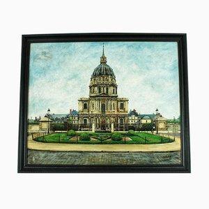 Pintura al óleo Dome des Invalides de Pierre Farge, años 20