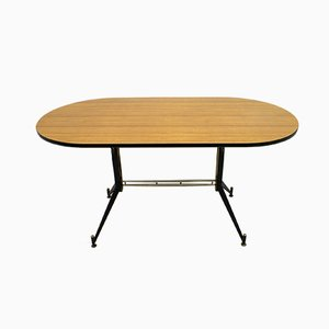 Mid-Century Italian Oval Dining Table by Ignazio Gardella for Azucena, 1950s