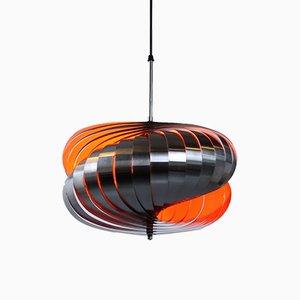 Steel Spiral Pendant Lamp by Henri Mathieu for lyfa, 1970s