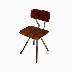 Mid-Century Industrial Bentwood Side Chair, 1960s
