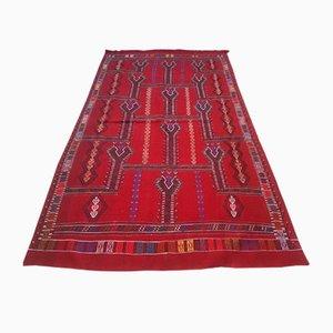 Türkischer Vintage Kelim Teppich in Rot, 1970er