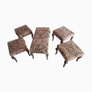 Türkisches Vintage Kelim Bank & Fußhocker Set von Vintage Pillow Store Contemporary, 1980er