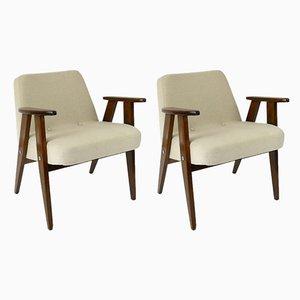 Beige Vintage Modell 336 Sessel von Józef Chierowski, 1960er, 2er Set