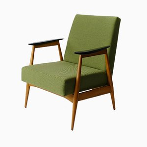 Vintage Green Lounge Armchair, 1960s