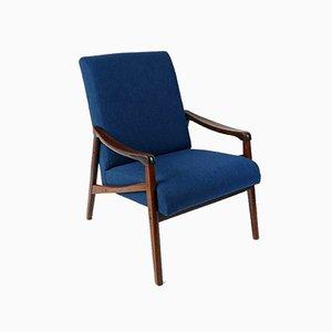 Blauer Vintage Sessel von Ton, 1960er