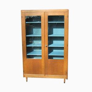 Mid-Century Oak School Cabinet, 1960s