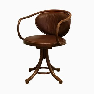 Bentwood No. 5501 Swivel Desk Chair by Thonet for TON, 1960s