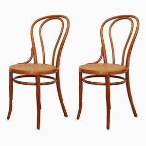 Antique No. 18 Dining Chairs by Gebrüder Thonet for Josef Hoffmann, Set of 2