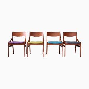 Dänische Mid-Century Esszimmerstühle aus Teak von Vestervig Eriksen, 1960er, 4er Set