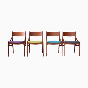 Mid-Century Danish Teak Dining Chairs by Vestervig Eriksen, 1960s, Set of 4