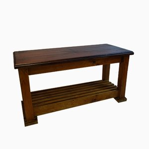 Antique Victorian Mahogany and Ash Worktable