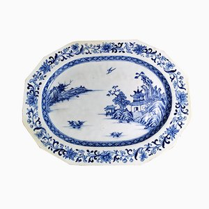 Antique Chinese Cobalt Blue Porcelain Tray