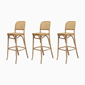 No. 811 Bar Stools by Josef Hoffmann for FMG, 1960s, Set of 3