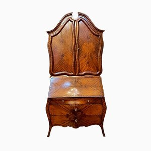 Antique Baroque Style Rosewood Secretaire