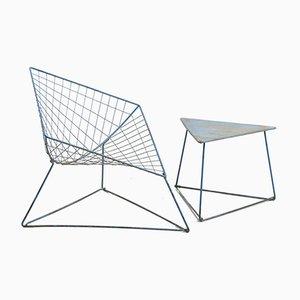 Juego de silla y mesa de centro modelo Oti de Niels Gammelgaard para Ikea, años 80