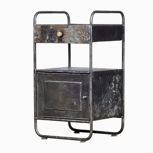 Vintage Iron Hospital Nightstand, 1920s