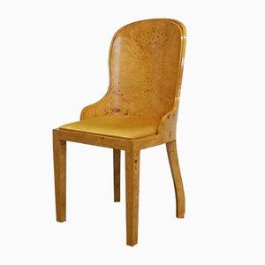 Art Déco Beistellstuhl aus Nussholzfurnier, 1970er