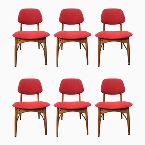 Italian Dining Chairs, 1960s, Set of 6