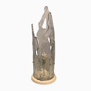 Large Murano Glass Icicle Table Lamp by Mazzega, 1970s
