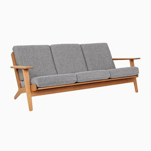 Danish Oak Model GE290 3-Seater Sofa by Hans J. Wegner for Getama, 1980s