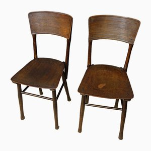 Chaises de Bistrot d'Époque par J & J Kohn, Set de 2