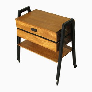 Vintage Scandinavian Teak Sewing Box, 1960s
