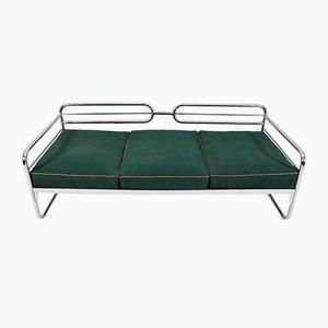 Bauhaus Sofa mit verchromtem Gestell, 1930er