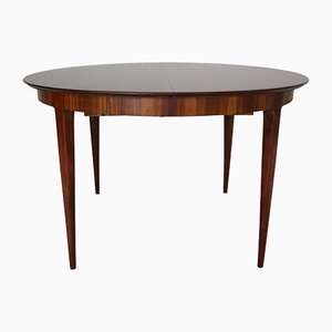 Scandinavian Modern Extendable Oval Rosewood Dining Table, 1960s