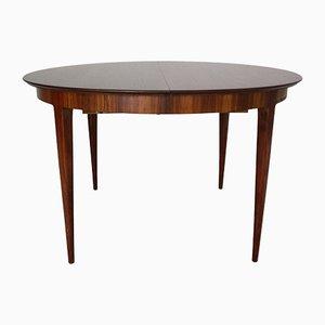 Table de Salle à Manger Ovale à Rallonge Scandinave Moderne en Palissandre, années 60