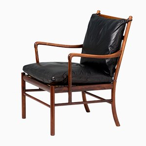 Vintage Model PJ-146 Rosewood Lounge Chair by Ole Wanscher for Poul Jeppesens Møbelfabrik, 1940s