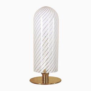 Lampe de Bureau en Verre de Murano et Laiton par Carlo Nason pour Mazzega, années 60