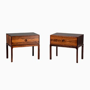 Rosewood Nightstands by Kai Kristiansen for Aksel Kjersgaard, 1960s, Set of 2