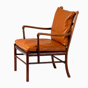 Vintage Rosewood Armchair by Ole Wanscher for Poul Jeppesens Møbelfabrik, 1950s