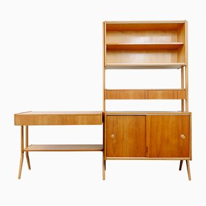 Light Oak Wall Unit by František Jirák for Tatra, 1960s