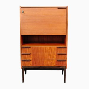 Mahogany Secretaire by Frantisek Mezulanik for UP Závody, 1960s
