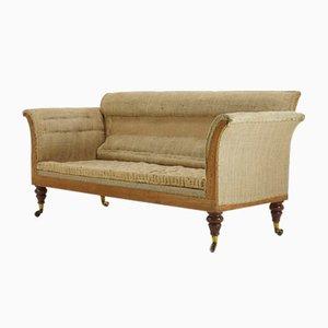 19th Century English Country House Mahogany Sofa